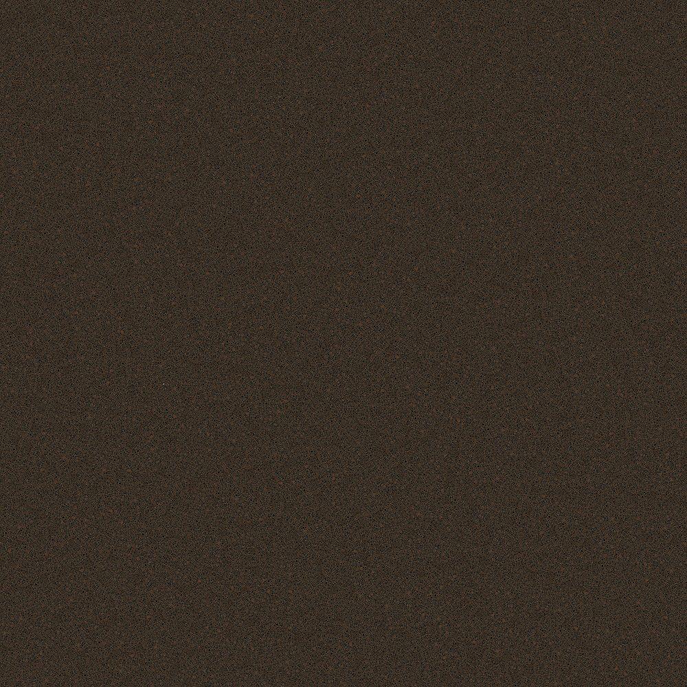 Silestone 4-inch x 4-inch Quartz Countertop Sample in Coffee Brown