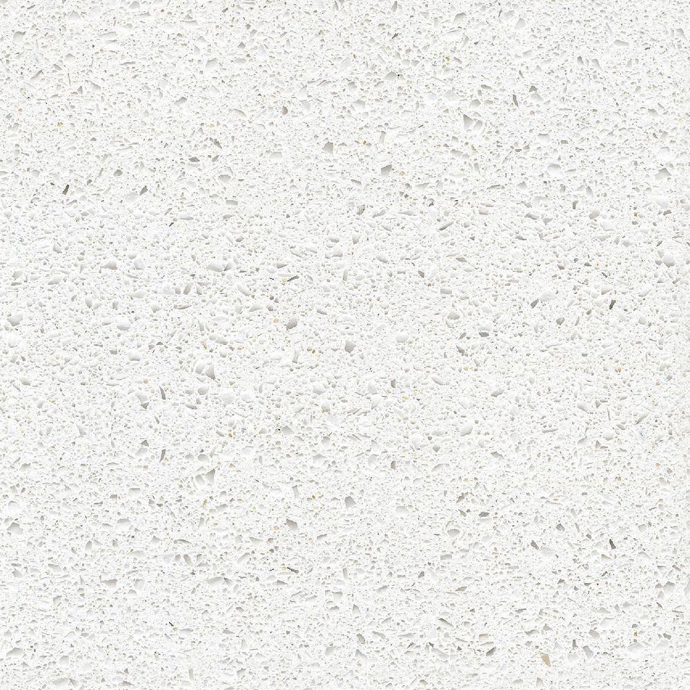 Silestone 4-inch x 4-inch Quartz Countertop Sample in Blanco Maple