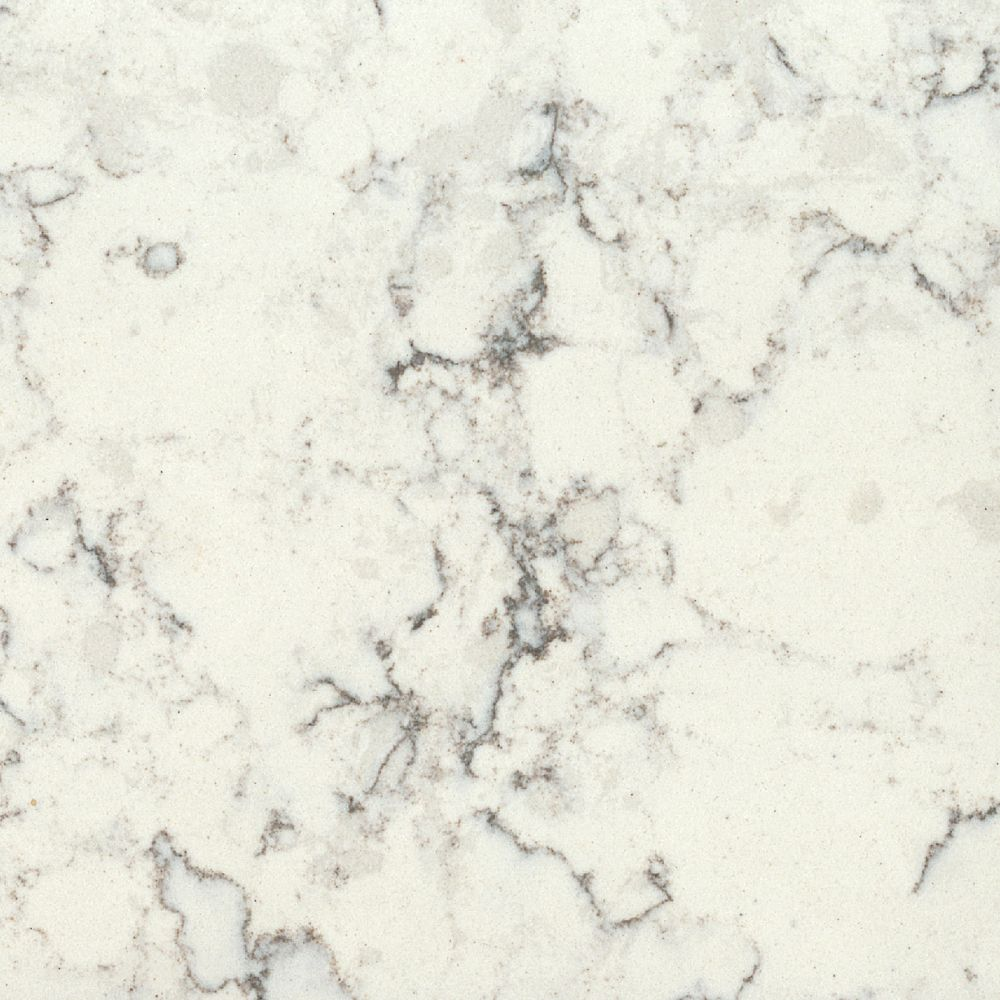 Silestone 4-inch x 4-inch Quartz Countertop Sample in Blanco Orion