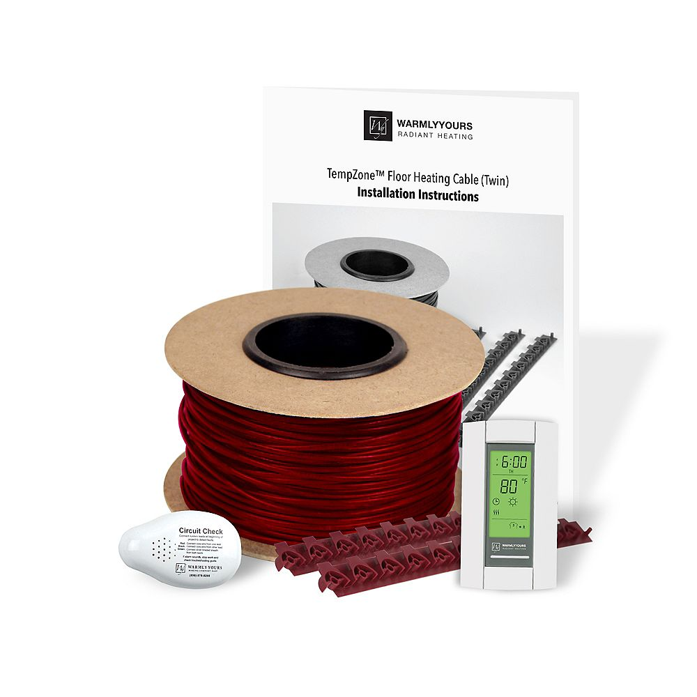 WarmlyYours Heating Cable Kit System, 120 Vs, 78  Squareft.