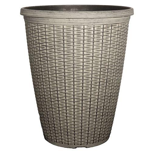 "CTi Plastics Grand pot patio rond15"" Osier"