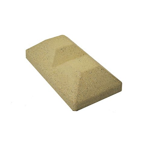 Capuchon de poteau de clôture en composite beige double en ligne de 5 po x 10 po