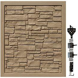 Barrière de protection de la vie privée en matériau composite brun de 5 pi de largeur x 6 pi de hauteur
