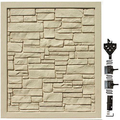 Barrière d'intimité en matériau composite beige de 5 pi L x 6 pi H