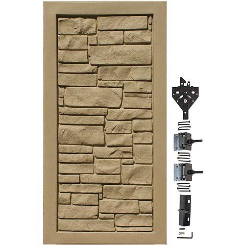 Barrière de protection de la vie privée en matériau composite brun de 3 pi L x 6 pi H