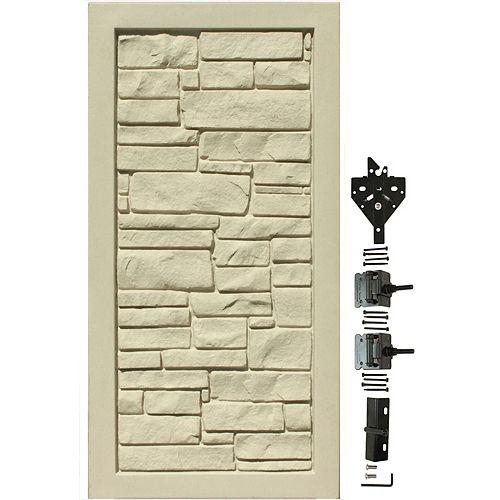 Barrière d'intimité en matériau composite beige de 3 pi L x 6 pi H
