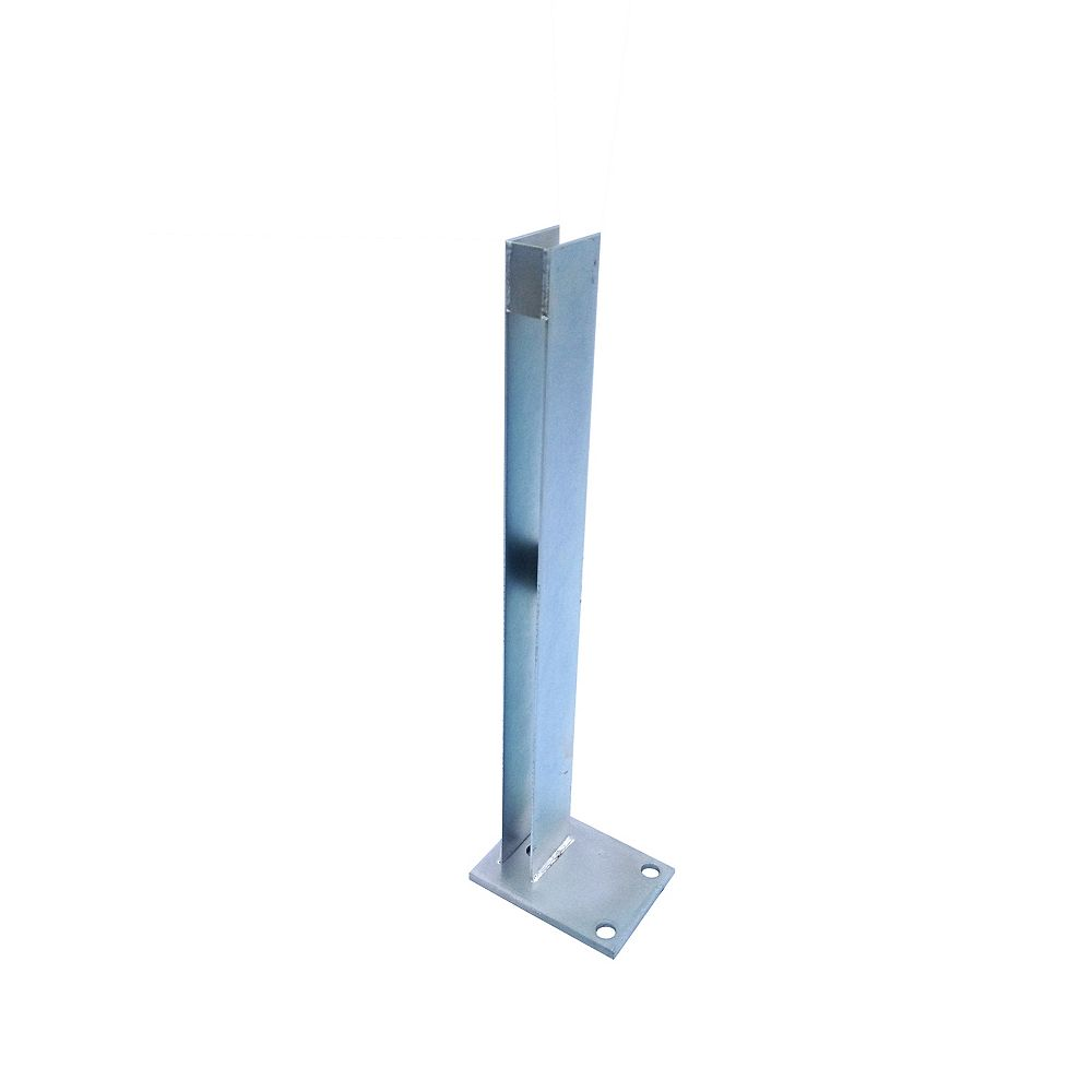 EcoStone 24 inch Zinc-Plated Galvanized Steel End Fence Post Concrete Surface Mounting Bracket