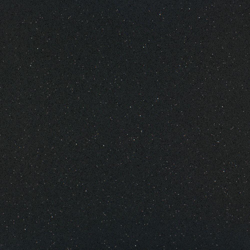 Silestone 4-inch x 4-inch Quartz Countertop Sample in Stellar Night