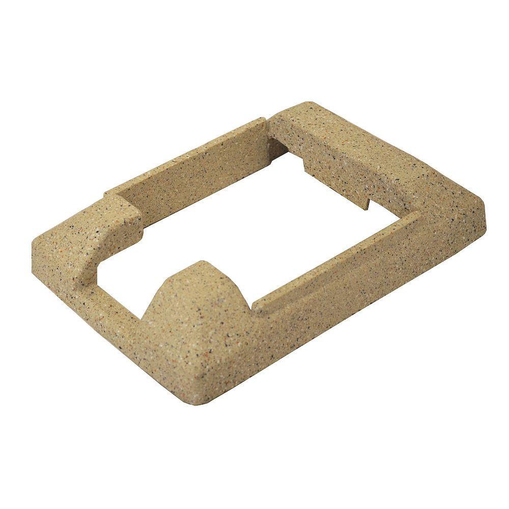 EcoStone 5 inch x 5 inch Composite Beige Fence End Post Concrete Bracket Skirt