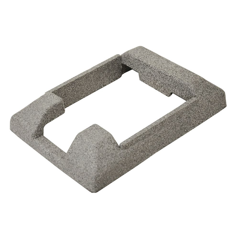 EcoStone 5 inch x 5 inch Composite Gray Fence End Post Concrete Bracket Skirt