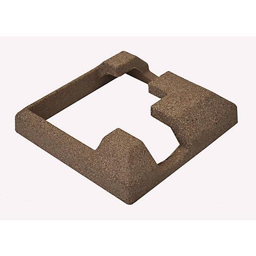 5-inch x 5-inch Composite Brown Fence Corner Post Concrete Bracket Skirt