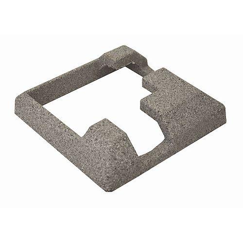 Jupe composite grise de 5 po x 5 po pour poteau d'angle de clôture en composite de 5 po x 5 po Jupe de support en béton