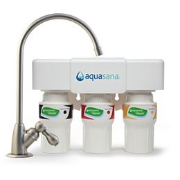 3-Stage Under Counter Water Filtration System with Faucet in Brushed Nickel