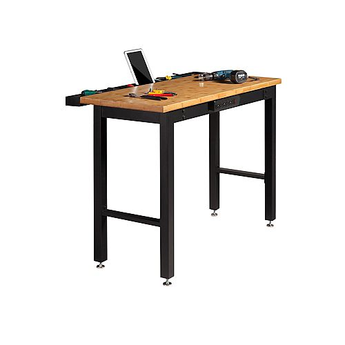 Newage 48 Inch.  Bamboo Work Bench With Power Bar