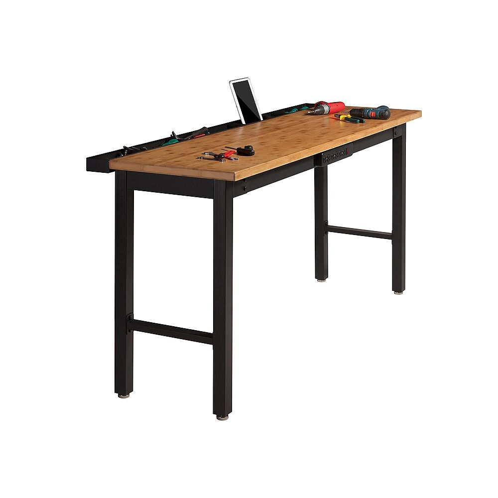 NewAge Products Inc. 72-inch Bamboo Work Bench with Power Bar