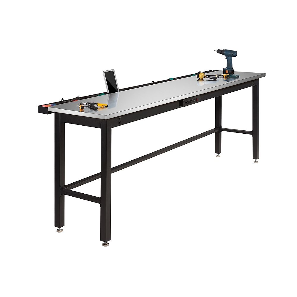 NewAge Products Inc. Newage 96 Inch.  Stainless Steel Work Bench With Power Bar