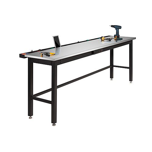 Newage 96 Inch.  Stainless Steel Work Bench With Power Bar