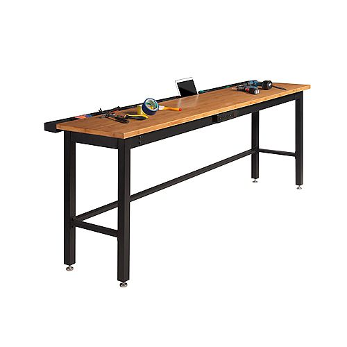 Newage 96 Inch.  Bamboo Work Bench With Power Bar