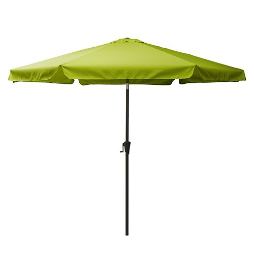 10 ft. Round Tilting Lime Green Patio Umbrella