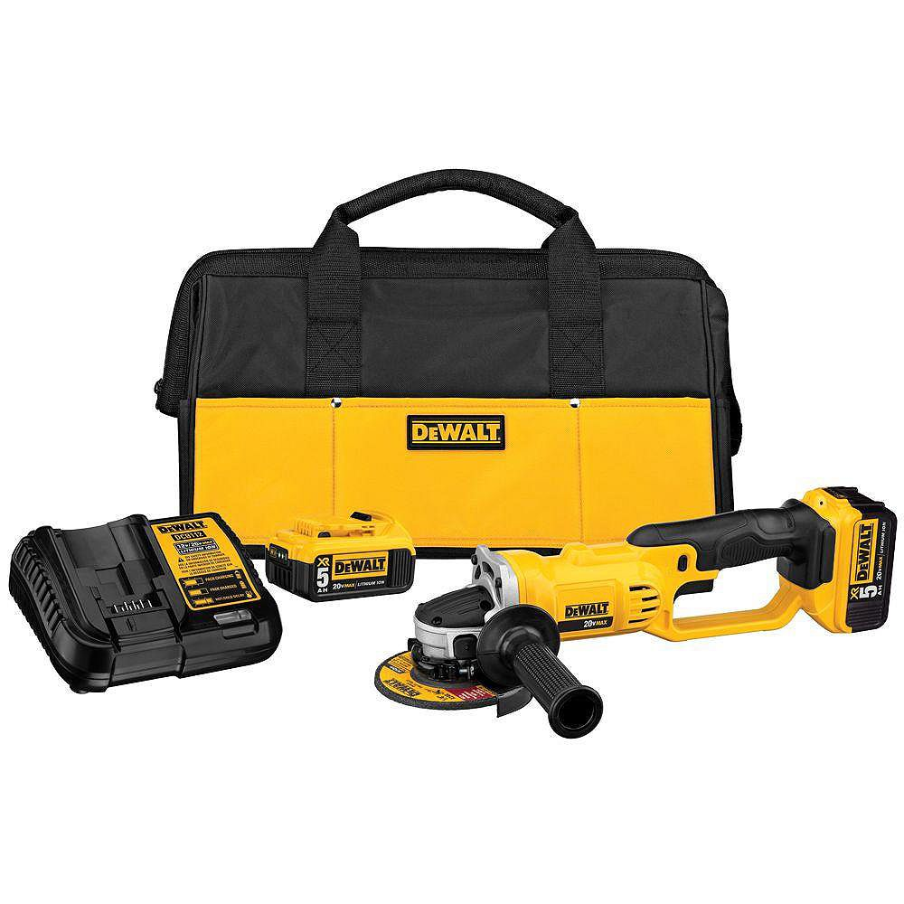 DEWALT 20V MAX Lithium-Ion Cordless Cut-Off Tool Kit with (2) Batteries 5Ah, Charger and Contractor Bag