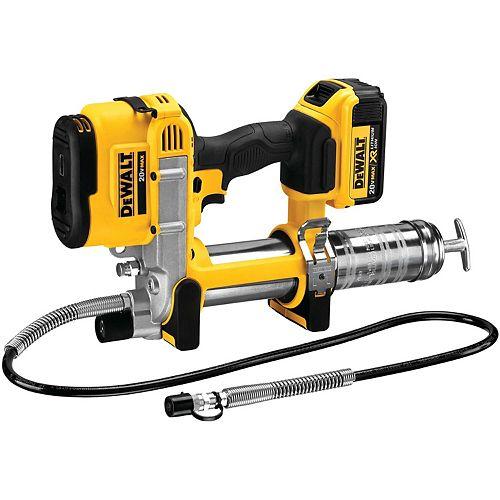 DEWALT 20V MAX Lithium-Ion Cordless Grease Gun Kit with Battery 4Ah, Charger and Kit Box