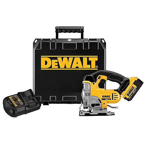 20V MAX Lithium-Ion Cordless Jig Saw Kit with Battery 4Ah, Charger and Bag