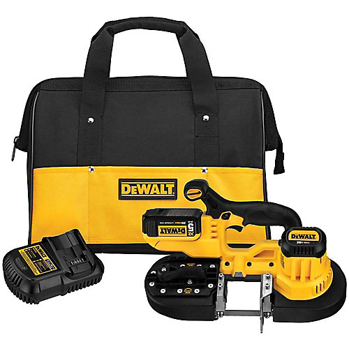 20V MAX Lithium-Ion Cordless Band Saw Kit with Battery 5Ah, Charger and Contractor Bag