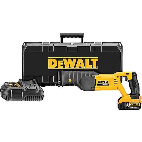 20V MAX Lithium-Ion Cordless Reciprocating Saw Kit with Battery 5Ah, Charger and Case