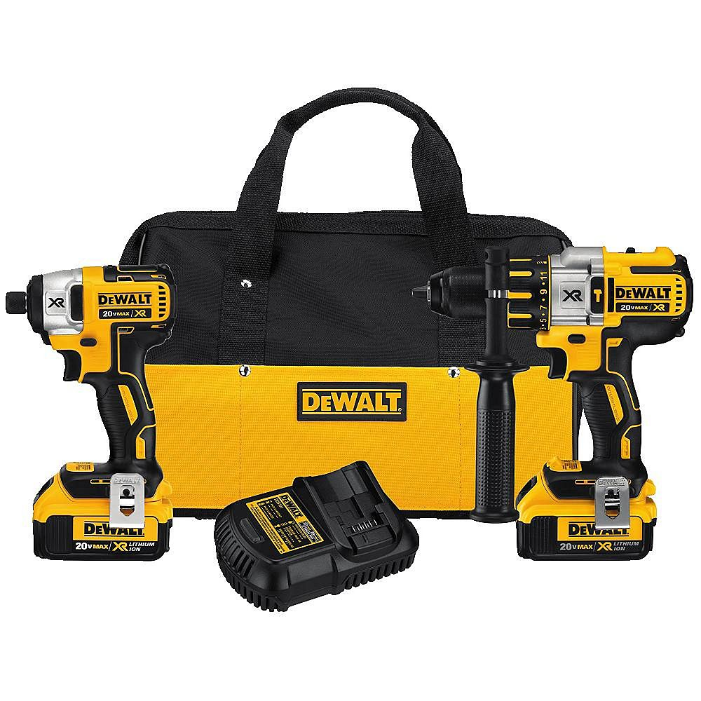 DEWALT 20V MAX XR Two-Piece Combo Kit with Two Batteries (4.0Ah) and Bag