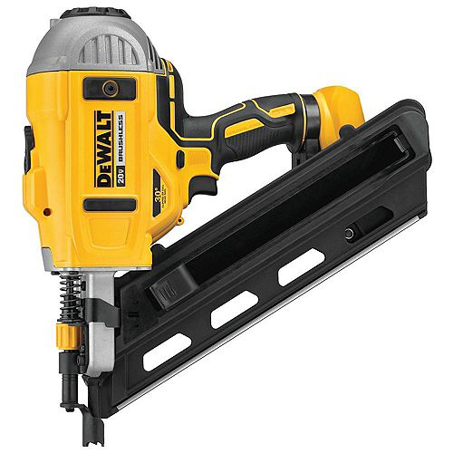 DEWALT 20V MAX XR Lithium-Ion Cordless Brushless 2-Speed 30° Paper Collated Framing Nailer (Tool-Only)