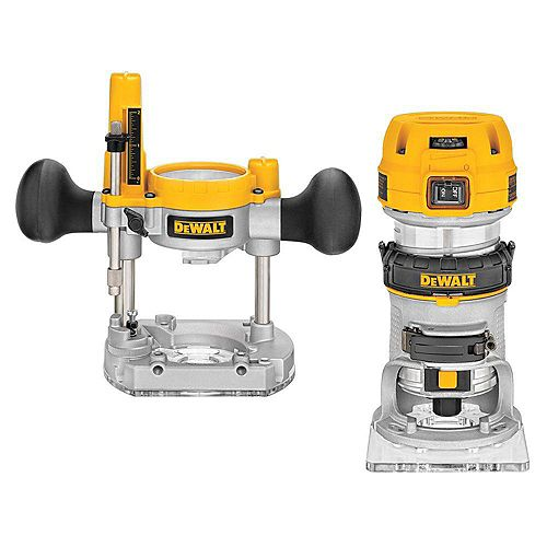 7 Amp Corded 1-1/4 Horsepower Compact Router with Plunge Base and Bag
