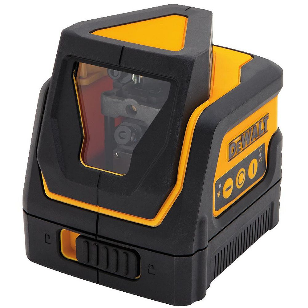 DEWALT 100 ft. Red Self-Leveling 360 Degree & Cross Line Laser Level with (3) AAA Batteries & Case