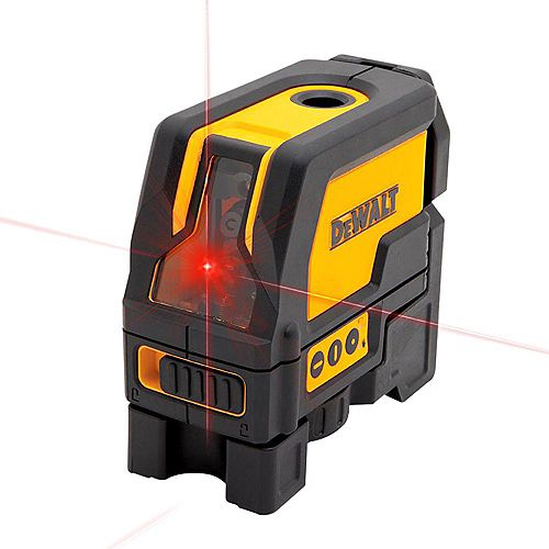 DEWALT 165 ft. Red Self-Leveling Cross-Line and Plumb Spot Laser Level with (3) AAA Batteries & Case