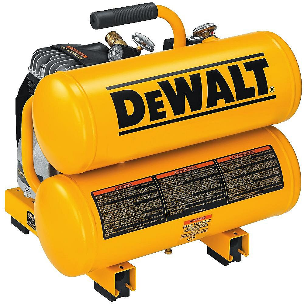 DEWALT Compresseur d'air de transport électrique continu de 4 gal. 1,1 HP