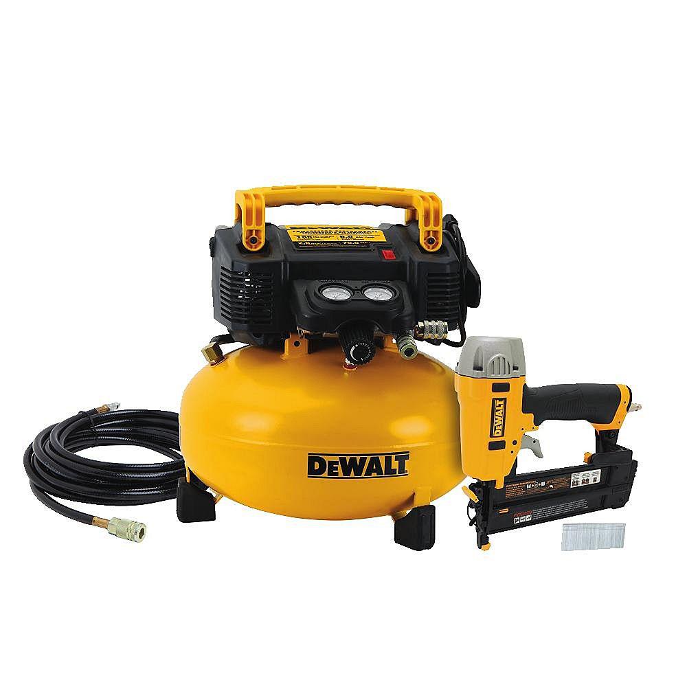 DEWALT 18-Gauge Brad Nailer and 6 Gal. Air Compressor Combo Kit