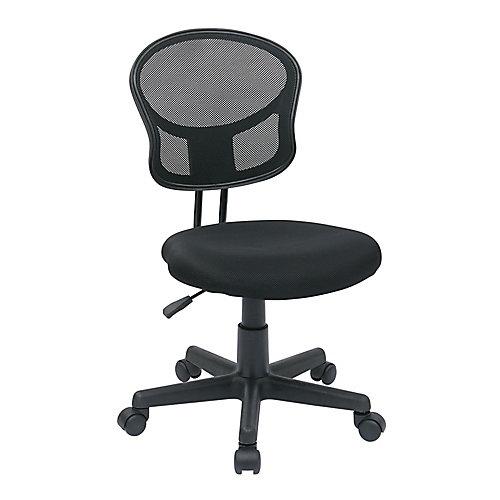 Chaise fonctionnelle en tissu maillé noir