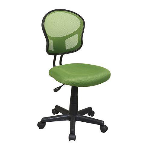 Chaise fonctionnelle en tissu maillé vert