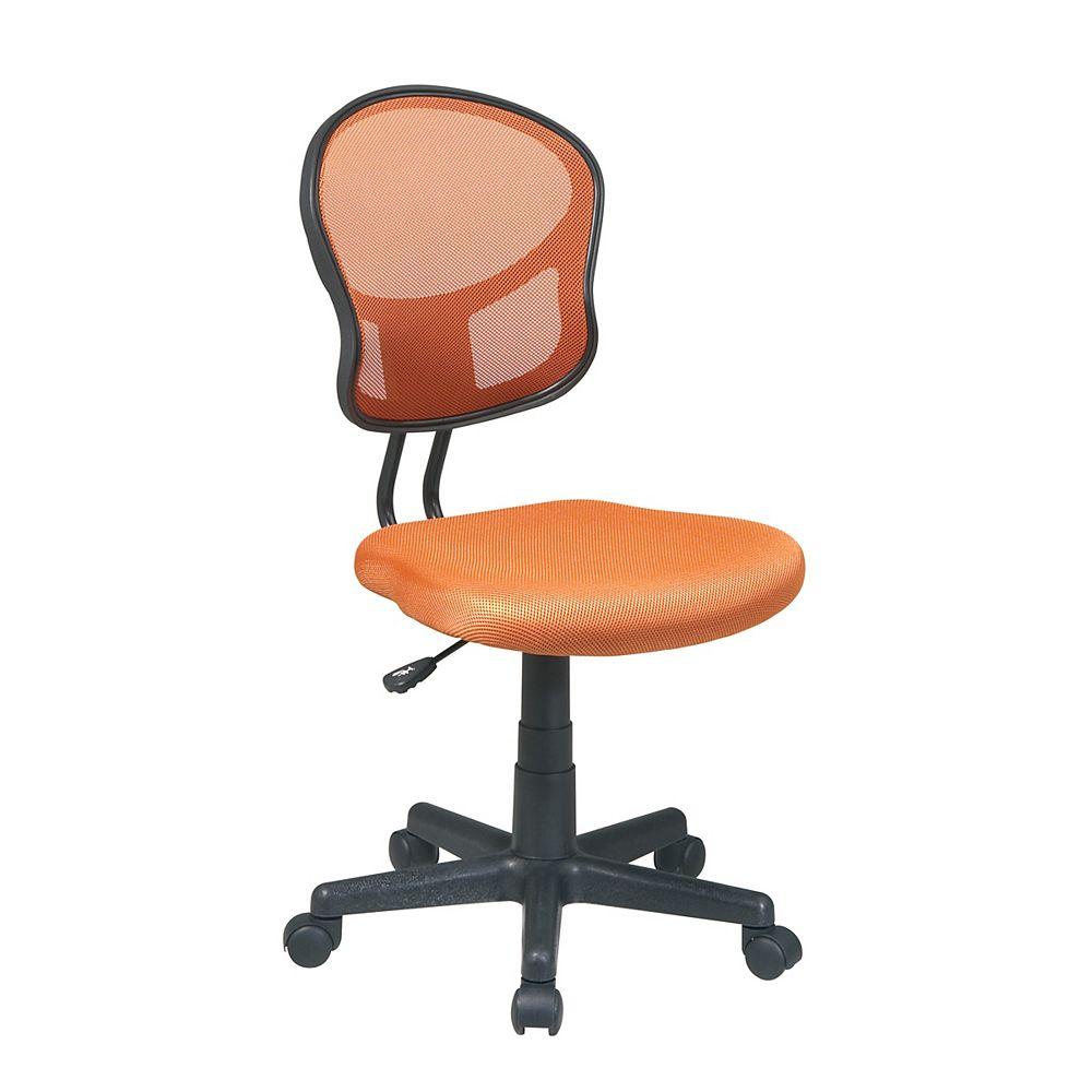 Office Star Orange Mesh Task Chair
