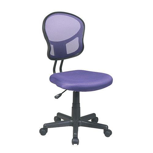 Chaise fonctionnelle en tissu maillé violet
