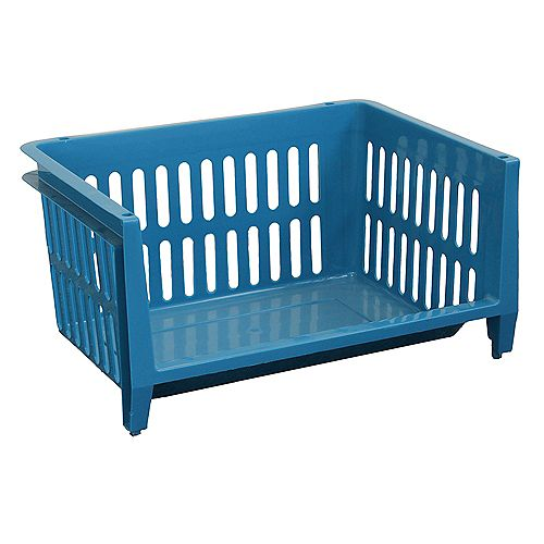 Jumbo Stacking Basket - Blue