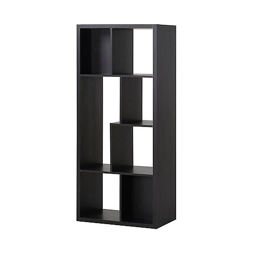 26-inch x 59.10-inch x 14.97-inch 7-Shelf Manufactured Wood Bookcase in Espresso