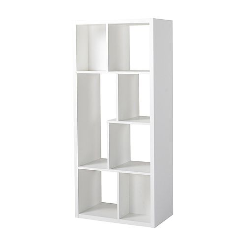 26-inch x 59.10-inch x 14.97-inch 7-Shelf Manufactured Wood Bookcase in White