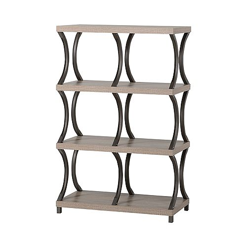 31.01-inch x 47.87-inch x 15.44-inch Manufactured Wood Bookcase in White