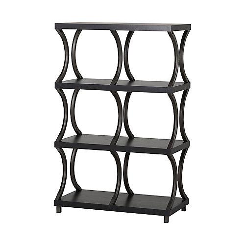 31.01-inch x 47.87-inch x 15.44-inch 4-Shelf Manufactured Wood Bookcase in Espresso