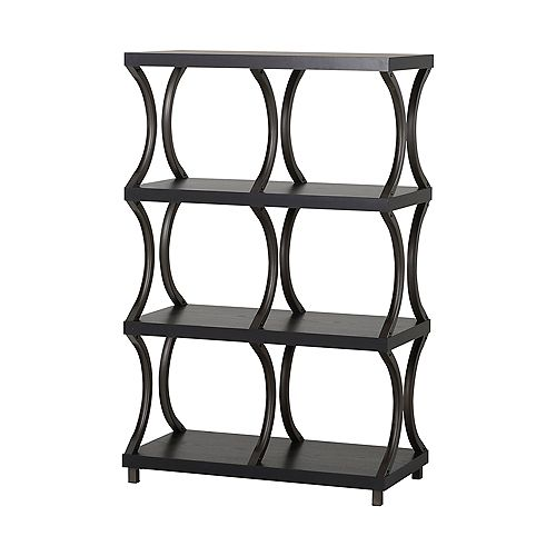 31.01-inch x 47.87-inch x 15.44-inch 4-Shelf Manufactured Wood Bookcase in Espresso