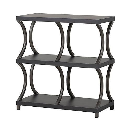 31.01-inch x 32.94-inch x 15.44-inch 3-Shelf Metal Bookcase in White