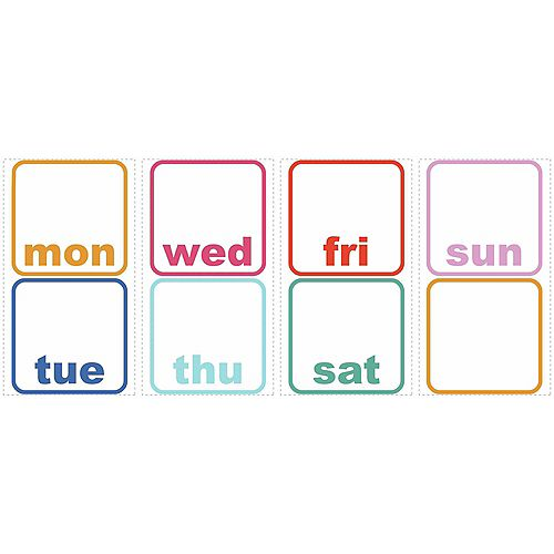 RoomMates RoomMates Stickers Muraux Days of the Week Planner DE