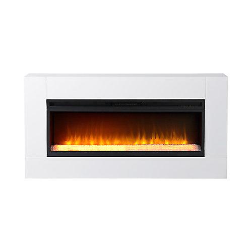 Mantova 42 Inch Wide Freestanding Firebox in White