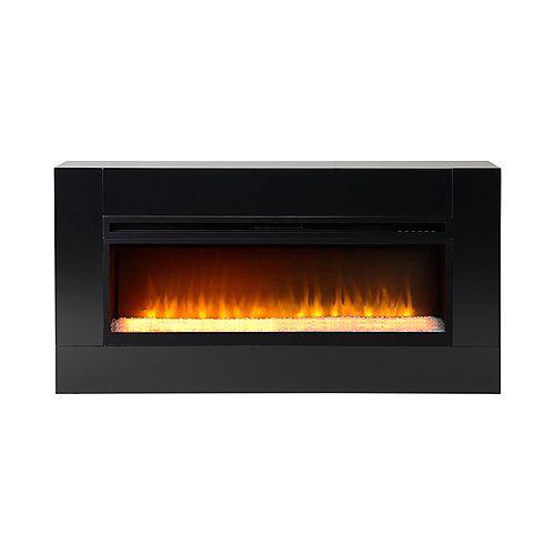 Mantova 42 Inch Wide Freestanding Firebox in Black