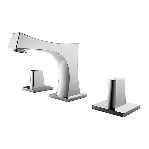 American Imaginations 8-inch Brass Bathroom Faucet in Chrome Colour